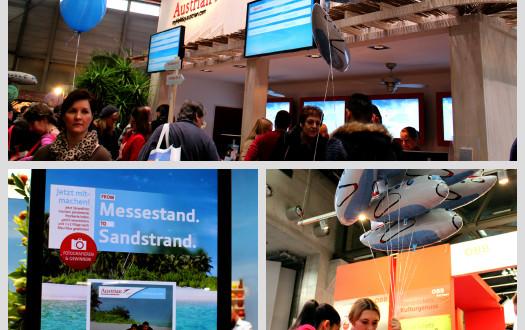Messe-Stand von Austrian Airlines
