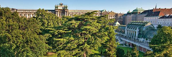 Burggarten: mit Palmenhaus und Hofburg