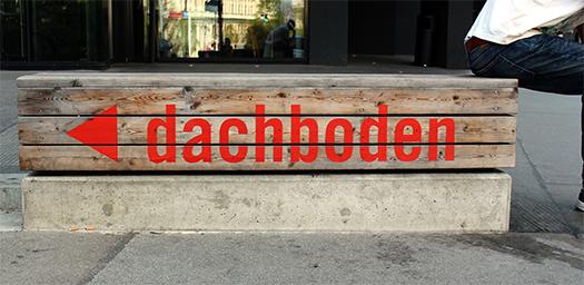 Dachboden Sign