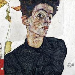 Egon Schiele, Selbstbildnis mit Lampionfrüchten