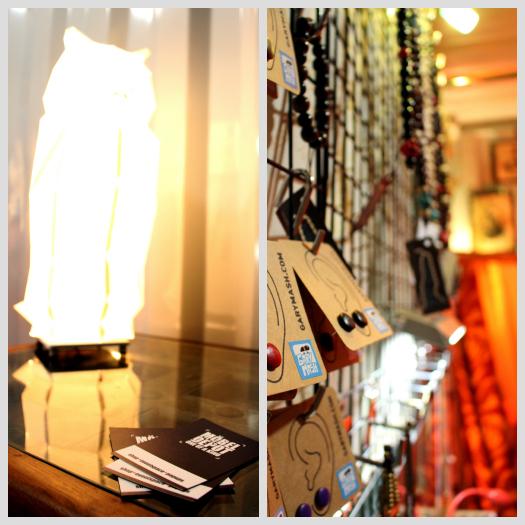 Ausgestellte Beleuchtungs- & Schmuck-Artikel