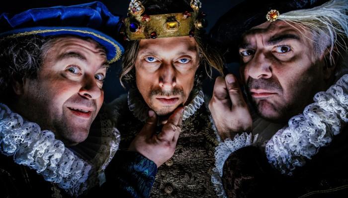 Pressefoto Richard III mit B.Murg, M.Pink, M.Niavarani, (c) Jan Frankl - Verwendung honorarfrei im Kontext der Veranstaltung