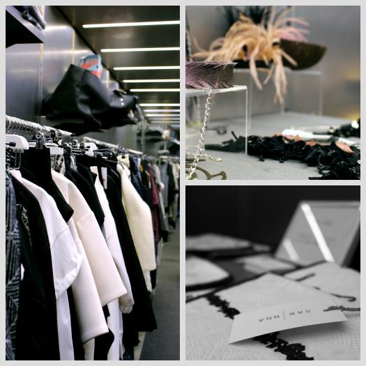 Ausgestellte Waren innerhalb des Vienna-Fashion-Week-Containers