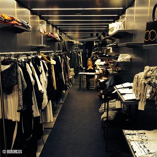 Blick in den Vienna-Fashion-Week-Container